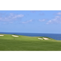 The Pacific Ocean comes into focus on the sixth hole at Makai Golf Club at Princeville on Kauai.