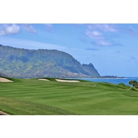 Captivating views surround the seventh hole at Makai Golf Club at Princeville on Kauai.