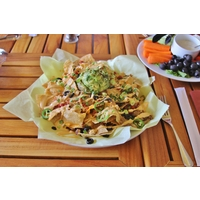 The food at the Kaua'i Marriott Resort ranges from the casual dining -- like nachos -- at the Kalapaki Grill to more sophisticated meals at several other restaurants.